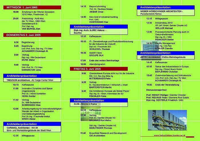 Programm Industriebauseminar 2005 Seite 2